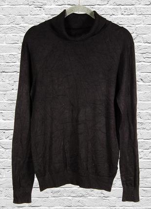 Черный гольф однотонный, черный свитер женский, базовый свитер