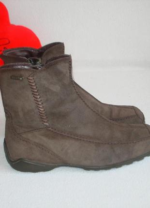 Кожаные стильные ботинки полусапожки  бренд gabor