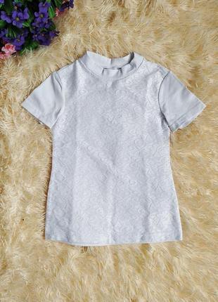 ♠️ школьная нарядная гипюровая блузка, короткий рукав ♠️