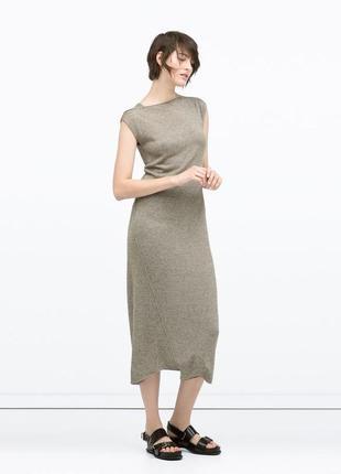 Шикарное платье zara , размер s (по бирке 165/84а) .