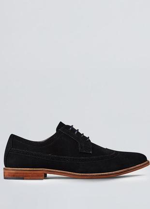 Замшевые черные туфли браги 42 р.