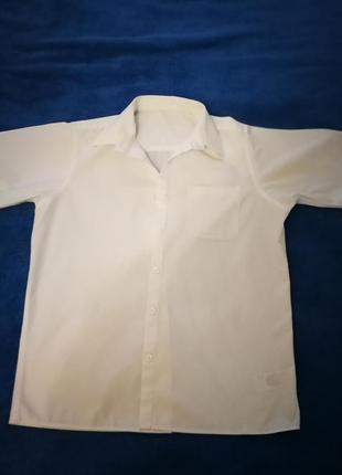 Рубашка белая m&sс коротким рукавом