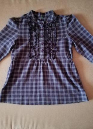 Стильная рубашка для девочки