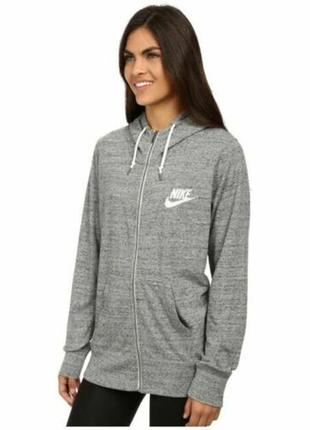 Крутое зип-худи от nike gym vintage hoodie sweatshirt women small heather gray zip