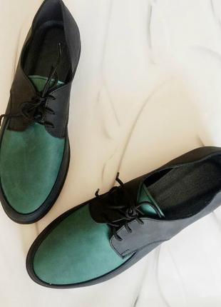 Кожаные туфли зеленые производство украина