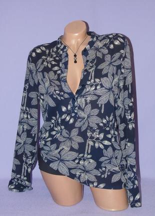 Блузочка в принт  листья vero moda
