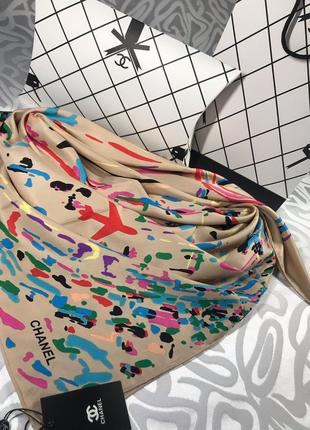 Шикарнейший шёлковый платок в стиле шанель