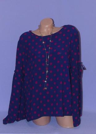 Красивая блузочка в горошки 18 размера