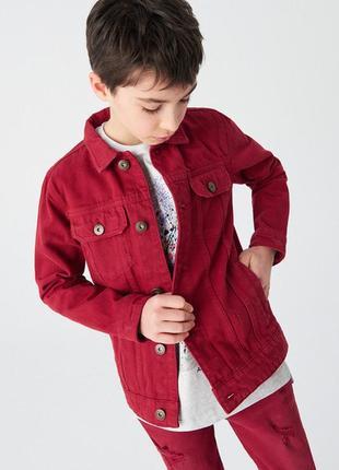Джинсовая куртка р.164-170см, яркий цвет, отличное качество reserved