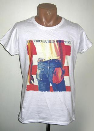 Женская футболка born in the usa