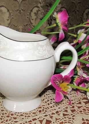 Фарфоровый молочник (сливочник) bone china 350 мл