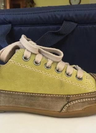 Удобные полуботинки-туфли германия натуральный замш+качественный кожзам lime light