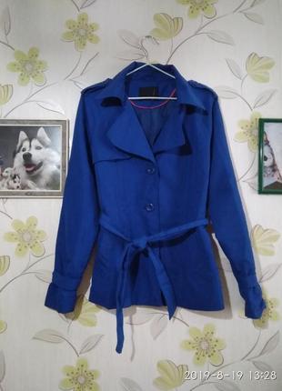 Шикарный тренч,плащь vero moda,благородный синий цвет