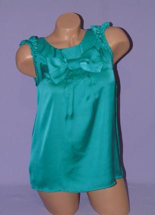 Красивая зелененькая блузочка 8 размера