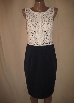 Красивое платье с кружевом fhase eight р-р12