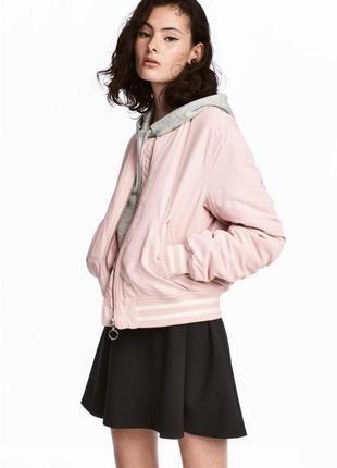 Куртка бомбер розовая пудра от h&m
