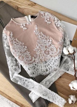 Блузка кружевная