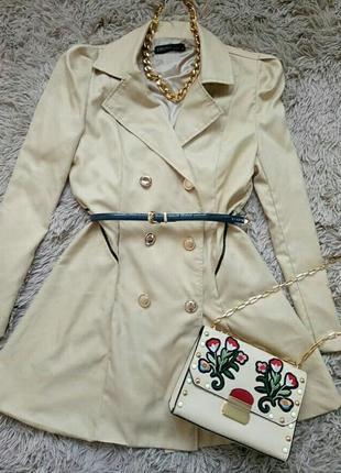 Тренч, пальто, плащ, куртка, пиджак, платье, кардиган