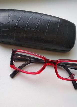 Красная фирменная оправа под линзы, очки оригинал anna greco ag006 393