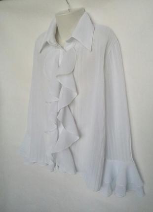Нарядная школьная белая блузка для девочки