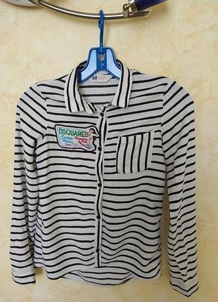 Рубашка штапель на девочку 10-11 лет