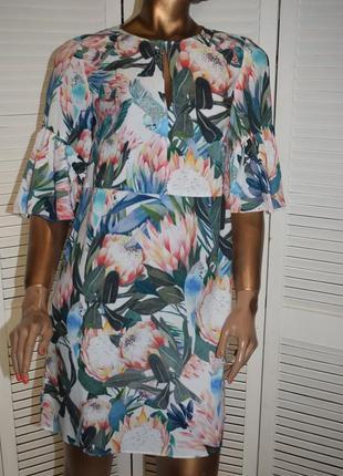 H & m платье с воланами5 фото