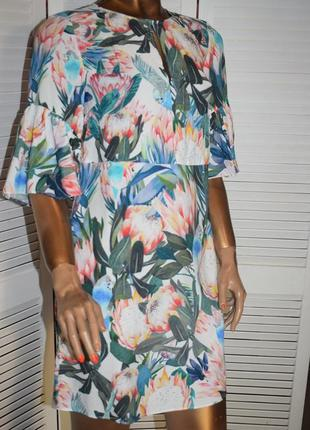 H & m платье с воланами6 фото