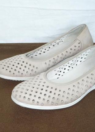 Ara оригинал мягкие дышащие кожаные мокасины туфли балетки танкетка натуральная кожа