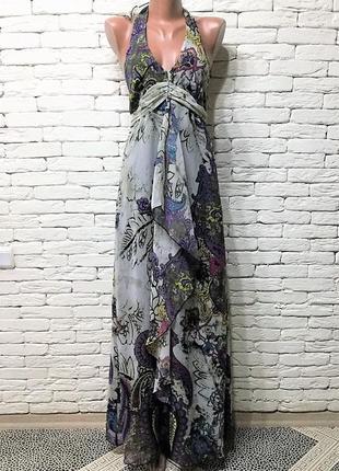 Шифоновое платье,макси длина