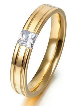 Интересное кольцо колечко каблучка украшение с квадратным цирконом . бижутерия