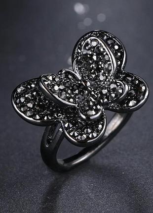 Интересное большое кольцо колечко каблучка украшение бабочка . бижутерия