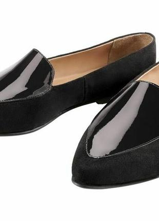 Кожаные туфли лоферы балетки heidi klum 38р.