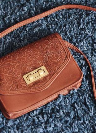 Винтаж сумка new look с тиснением
