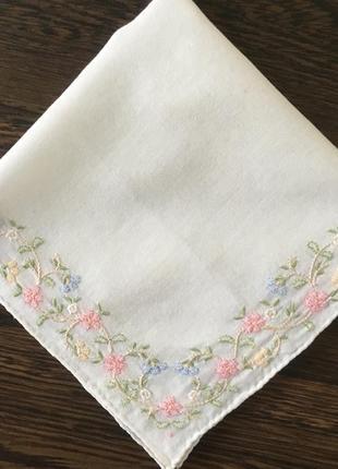Батистовый носовой платок ручная работу шов рауль винтаж  29см*29см