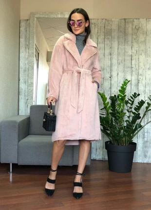 Женское пальто-шуба wiya (италия) размер s