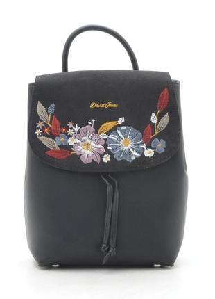 Черный рюкзак david jones городской женский