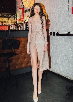 Люрексовое платье