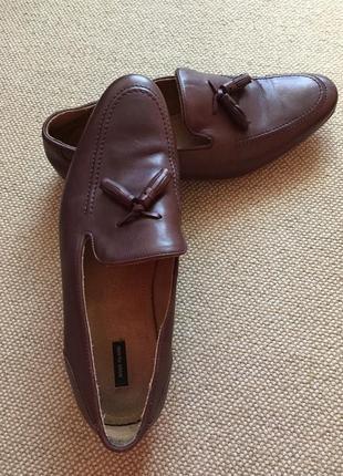 Кожанные шикарные туфли лоферы