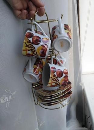 Кофейный сервиз на 6 персон helios