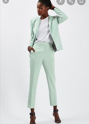 Крутые брюки мятного цвета от topshop
