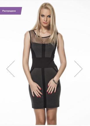Кокетливое платье с прозрачными вставками