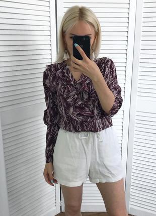 Блуза з рюшами винного відтінку, нова