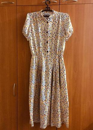 Шикарное шелковое платье ретро стиль 48-50 размер1 фото