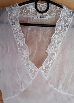 Блуза топ кружевной,жатый фатин р-10(s-m)