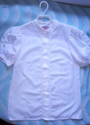 Нарядная белоснежная блузка в школу isar trachten германия 14-15-16лет