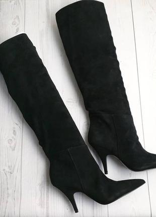 Kendall + kylie черные замшевые сапоги на шпильке