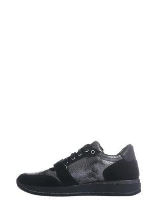Скидка! кожаные серебристые кроссовки с черными замшевыми вставками натуральная кожа