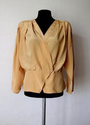 Винтажная блуза modissa 100% шелк