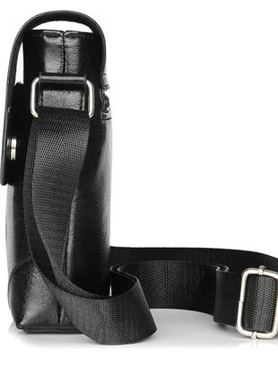 Черная кожаная сумка планшет jeep buluo5 фото