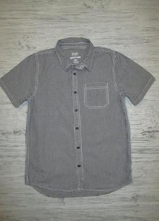 Котоновая рубашка в мелкую клетку фирмы f&f на 11-12 лет